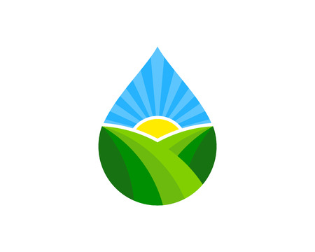 Water Logo Icon Design Vettoriali
