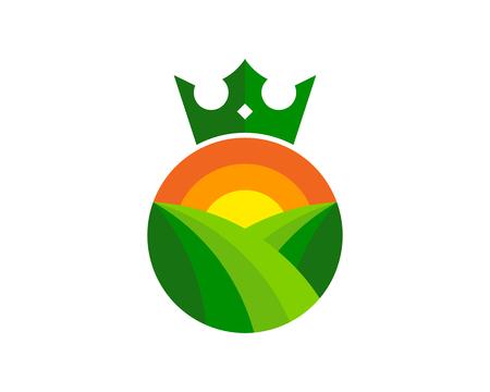 Crown Logo Icon Design Ilustracja