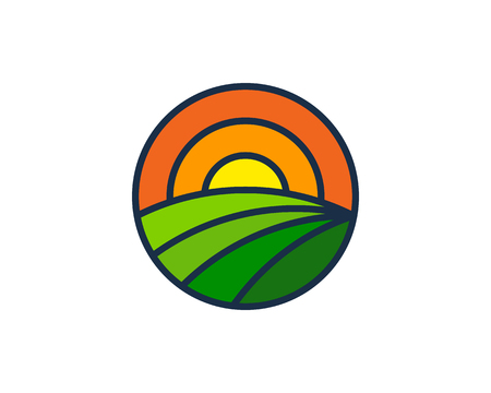 Accuracy farm icon design.