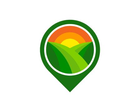 Pin farm icon design.