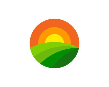Farm icon design. Illustration