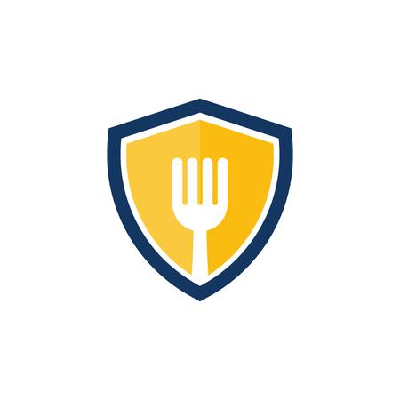 Shield Food Logo Icon Design