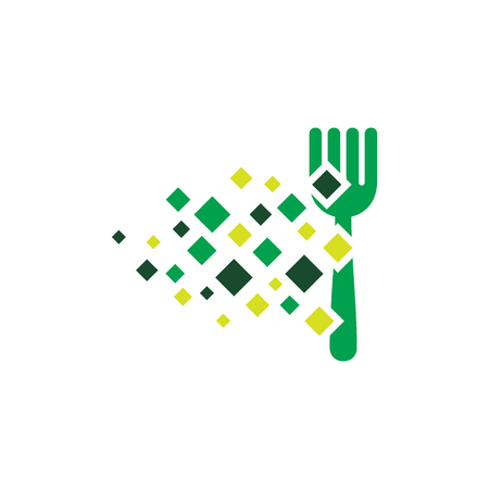 Pixel Food Logo Icon Design Banque d'images - 101267177