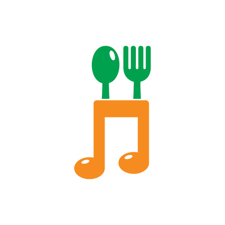 Melody Food Logo Icon Design Stok Fotoğraf - 101267456