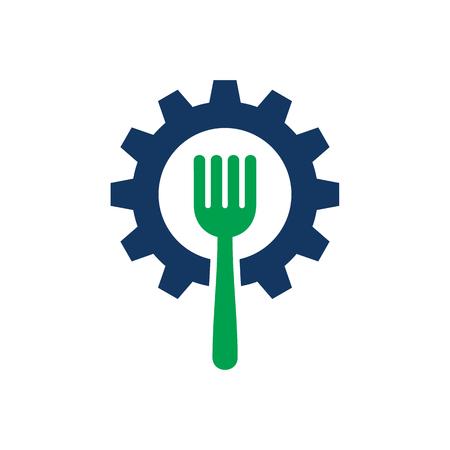 Wheel Food Logo Icon Design