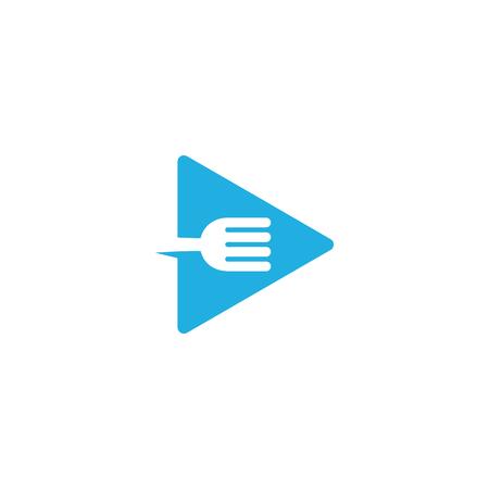 Video Food Logo Icon Design Vectores