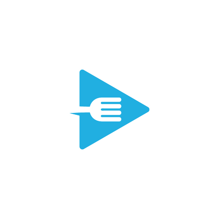 Video Food Logo Icon Design 矢量图像