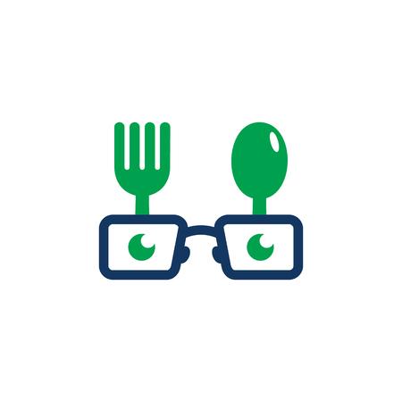 Geek Food Logo Icon Design Logo