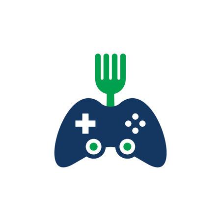 Game Food Logo Icon Design Banque d'images - 101266858