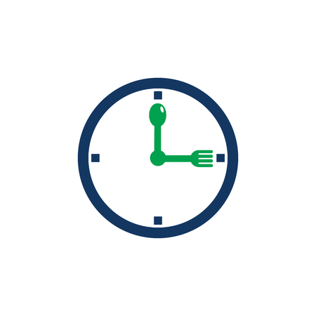Time Food Logo Icon Design Фото со стока - 101266855