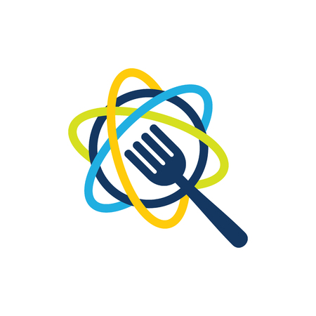 Science Food Logo Icon Design Banque d'images - 101267490