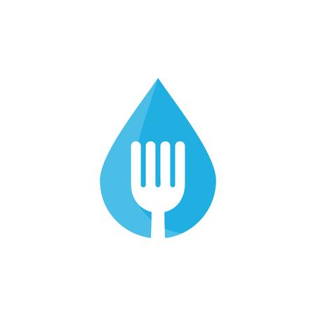 Water Food Logo Icon Design