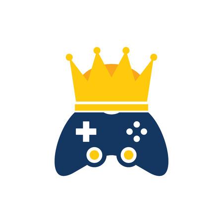 Crown Game Logo Icon Design Иллюстрация