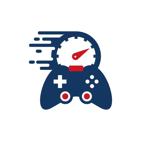 Speed Game Logo Icon Design Illusztráció