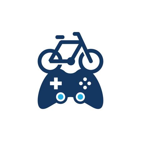 Bike Game Logo Icon Design
