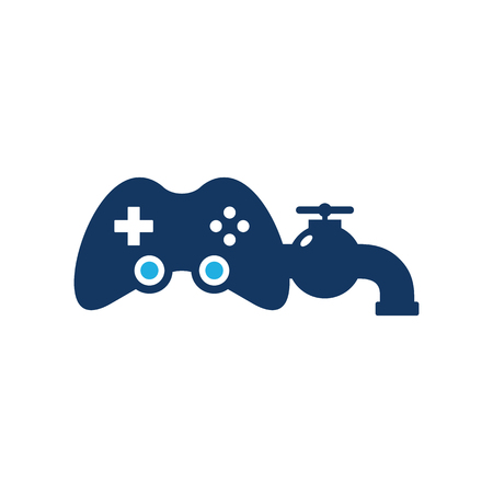 Plumbing Game Logo Icon Design
