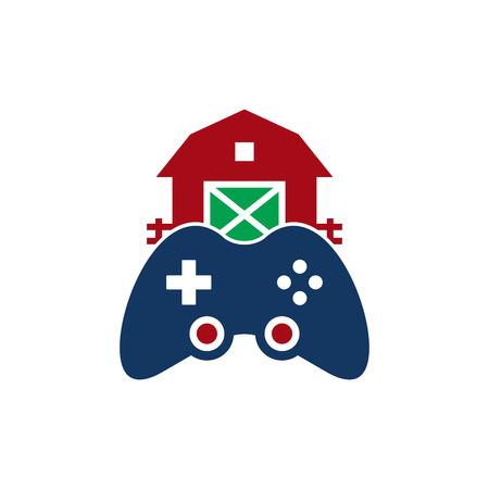 Farm Game Logo Icon Design Illustration