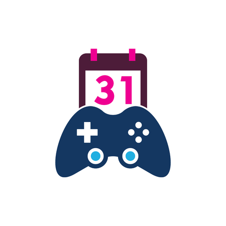 Calendar Game Logo Icon Design 向量圖像
