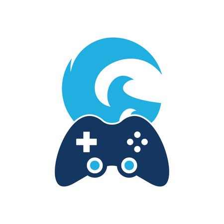 Diseño de icono de logotipo de juego de onda Foto de archivo - 102099372