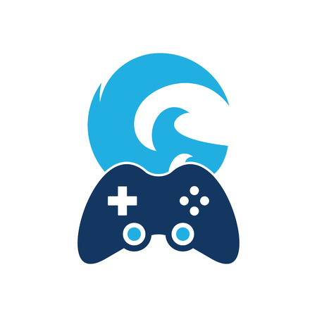 Wave Game Logo Icon Design