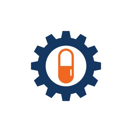 Medicine Gear Logo Icon Design