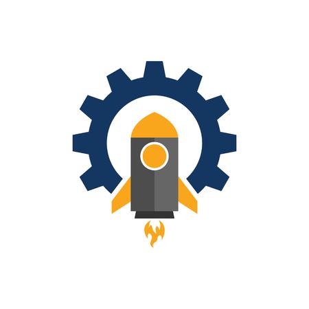 Rocket Gear Logo Icon Design