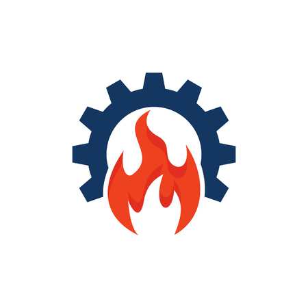 Burn Gear Logo Icon Design