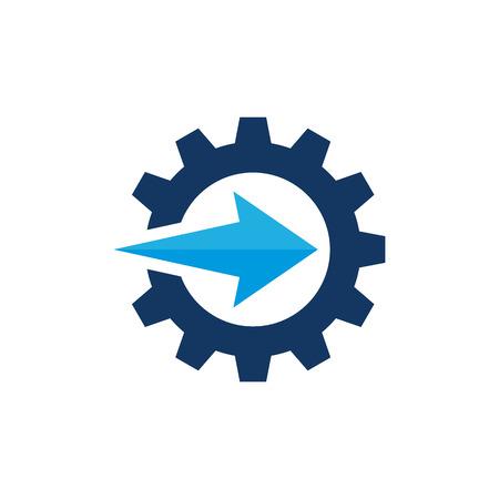 Arrow Gear Logo Icon Design