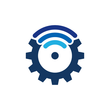 Wifi Gear Logo Icon Design