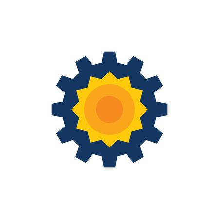 Sun Gear Logo Icon Design