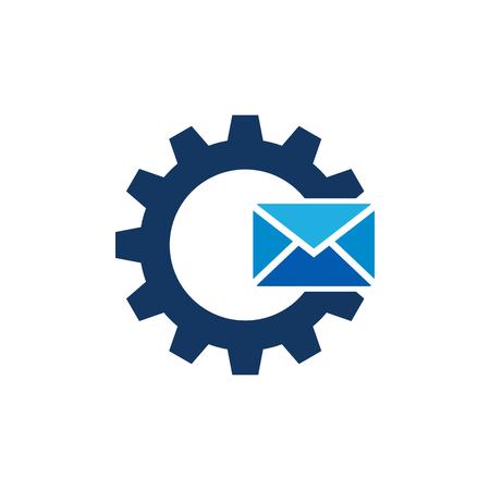 Mail Gear Logo Icon Design Illustration