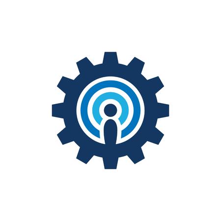 Signal Gear Logo Icon Design