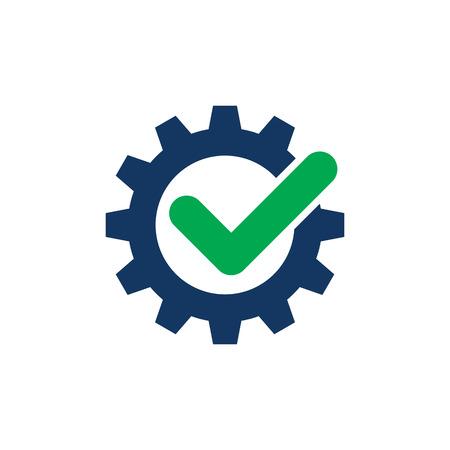 Check Gear Logo Icon Design