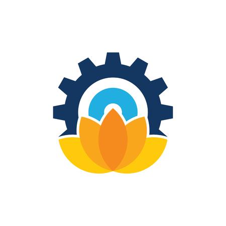 Lotus Gear Logo Icon Design