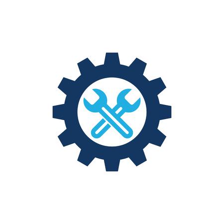 Fix Gear Logo Icon Design