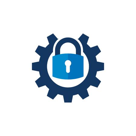 Security Gear Logo Icon Design