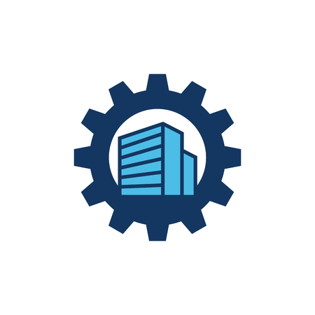 Building Gear Logo Icon Design