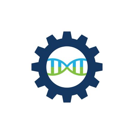 Dna Gear Logo Icon Design Illustration