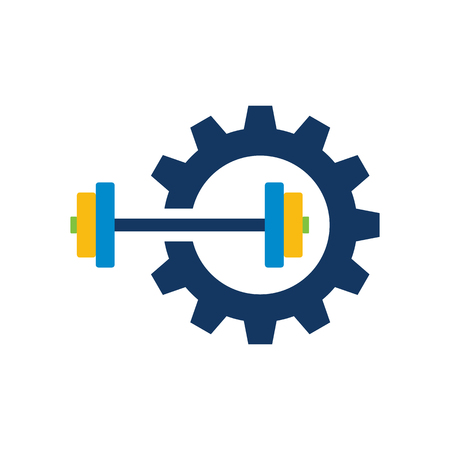 Barbell Gear Logo Icon Design 写真素材 - 101295098