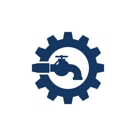 Plumbing Gear Logo Icon Design
