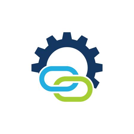 Connect Gear Logo Icon Design