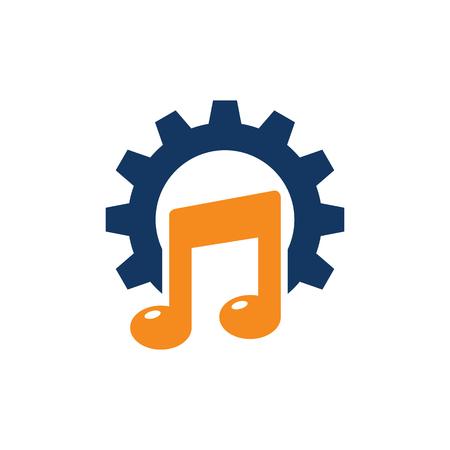 Music Gear Logo Icon Design