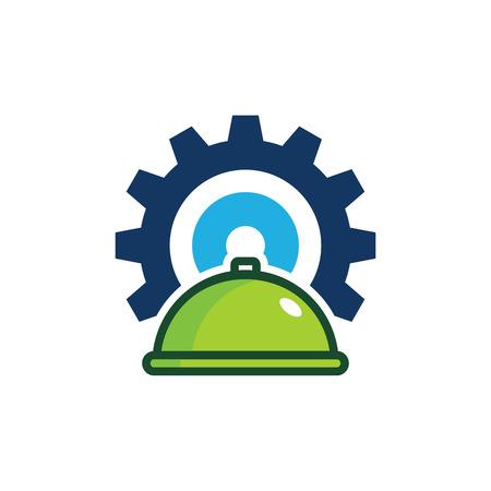 Food Gear Logo Icon Design Banque d'images - 101294072