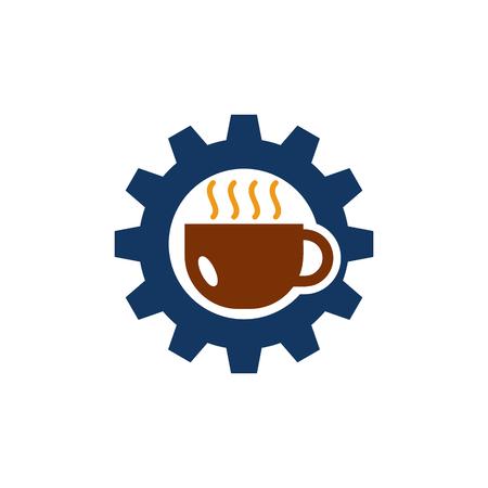 Coffee Gear Logo Icon Design Illustration
