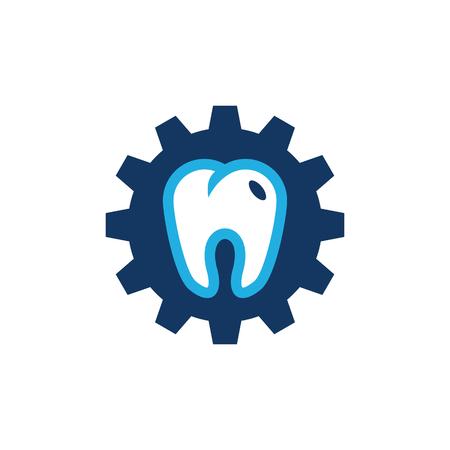 Dental Gear Logo Icon Design