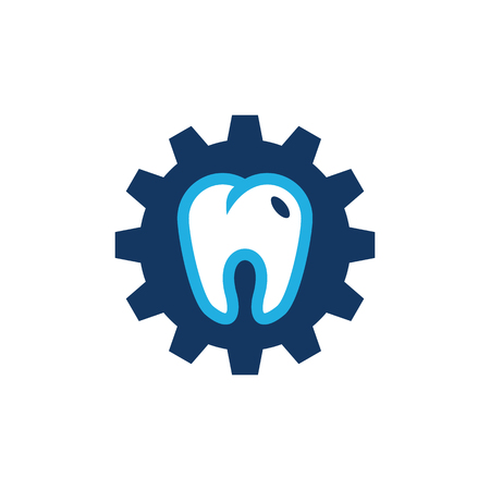 Dental Gear Logo Icon Design