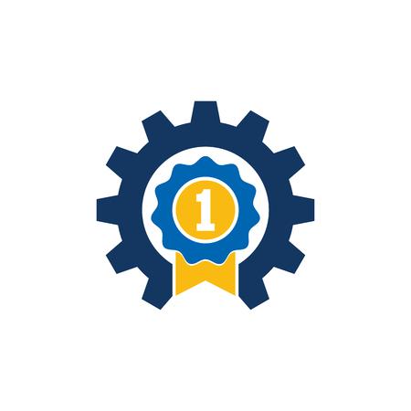 Best Gear Logo Icon Design 일러스트