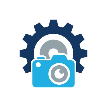 Camera Gear Logo Icon Design