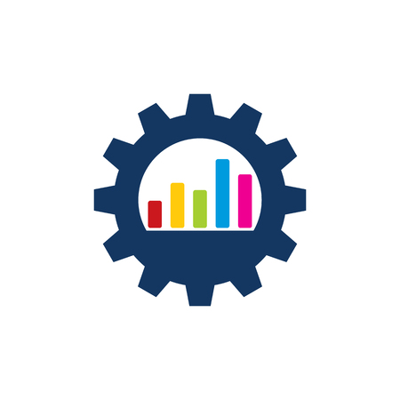 Graph Gear Logo Icon Design