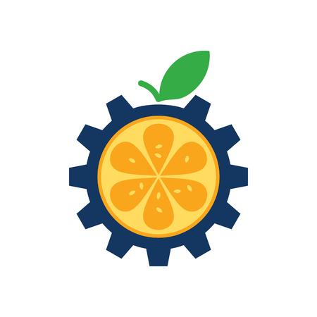 Fruit Gear Logo Icon Design